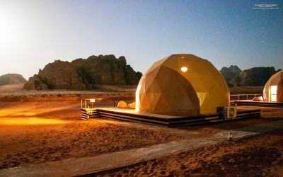 The 'Martian' tent at Wadi Rum