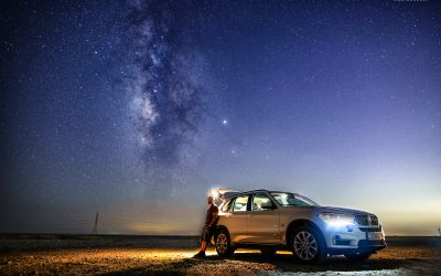 Desert castles highway & milky way