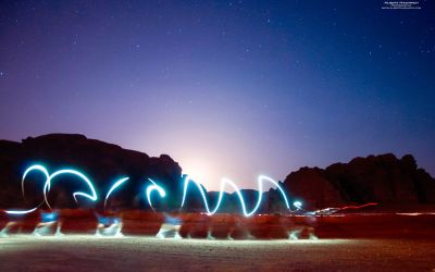 Light Drawing in Wadi Rum 2