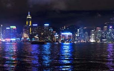 Hong Kong Skyline Night Time