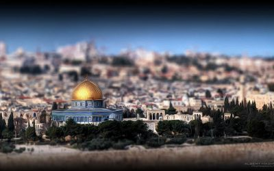Jerusalem in Tilt Shift & Painting Style