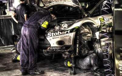 WRC2011 – Service Park in Dead Sea