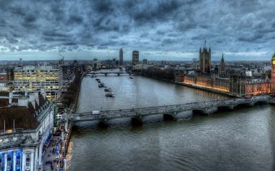 The Palace of Westminster from the Air