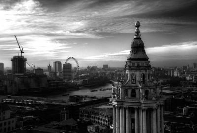 London skyline from St. Paul's Cathedral 2 – Southwest Tower
