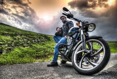 Phil & his bike 1