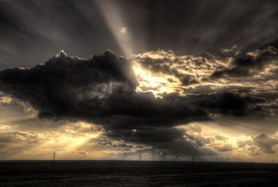 Desert Road Clouds 2