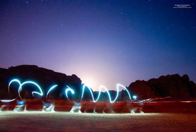 Light Drawing in Wadi Rum 2